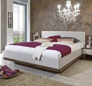 Sevani by Wiemann showing floating bed and bedside panel
